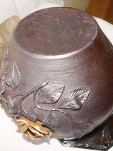 Ancien vase ou cache pot en grès normand