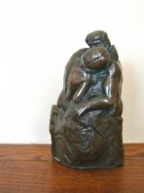 """""""Le Baiser"""", reproduction en bronze de l'œuvre de Rodin"""