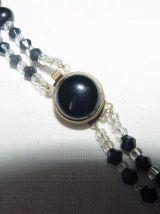 Collier double-rang ancien perles de verre