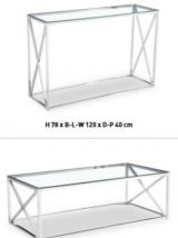 table basse chromer et vitrer (neuf dans sa boite )