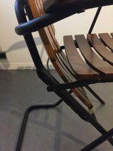 Fauteuil bois massif, vintage, polyconfort, inclinable