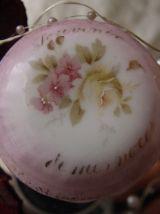 Ancienne Boîte à alliances en porcelaine