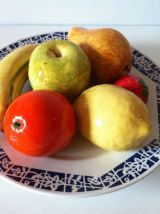 Lot de 6 fruits en céramique