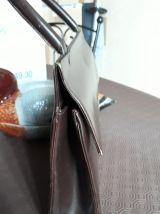 Sac à main de 1952  cuir chocolat