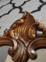 miroir baroque en résine dorée
