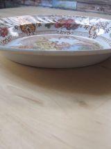 assiette  en longwy  ancienne