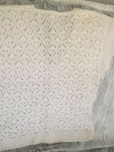 Gilet en laine blanche