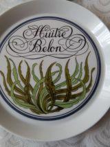 """Six assiettes en porcelaine d'AUTEUIL. Ligne """" Plateau de l'"""