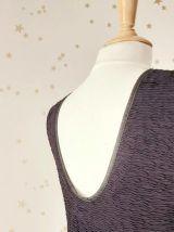 Vintage 80 robe taille basse plissée tutu tulle noir