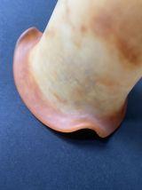 Ancienne tulipe abat-jour en pâte de verre vintage