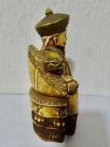 statuette vieuxx chinois en corne