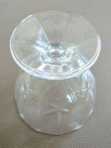 6 coupes à glace en verre cristallin