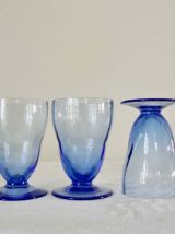 12 verres bleu myosotis