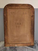 miroir ancien Louis Philippe en bois noir et doré