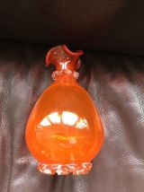 Ancien vase orange