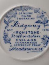 5 soucoupes Ridgway Staffordshire