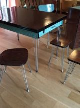 Tables (+rallonges) & chaises Formica Eiffel