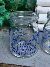 Paire de pots en verre publicitaires de collction