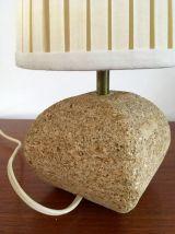 Lampe en pierre vintage années 70