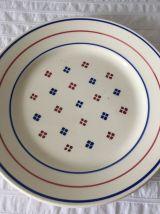 6 assiettes creuses- Luneville, modèle Madeleine