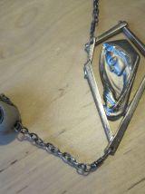Grand chapelet  longueur 1 m 73   avec  49 perles 4 faces