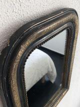 Ancien miroir de cheminée Louis Philippe - 50 x 40 cm