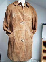 manteau marron clair en peau  T 38 vintage