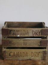 Boite Vintage Canada Dry