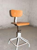 Chaise de bureau industrielle Eurosit années 50