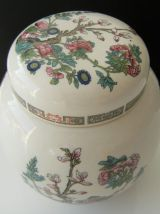 Bonbonnière sucrière porcelaine Anglaise Sadler Staffordshir