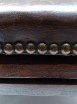Fauteuil / chaise réglable en bois et cuir