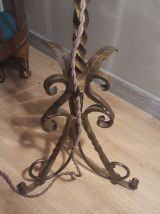 lampadaire fer forge  or, dom  28x15 cm