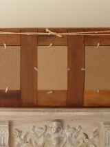 Ancien cadre en bois patiné pour cinq photos