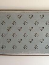 Rare plaque ancienne industrielle pour pochoirs
