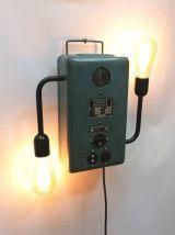 """Lampe murale industrielle, Applique vintage - """"Le Triphasé"""""""