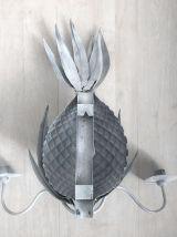 Bougeoir mural Ananas en métal vintage 60's
