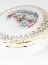 Bonbonnière en porcelaine de limoges souvenir de communion