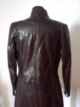 Manteau en cuir femme Red skins (taille M)