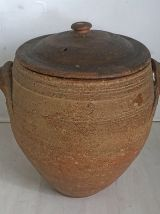 Grand Pot en Grès avec couvercle