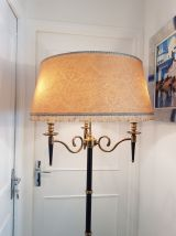 Lampadaire moderniste 3 bras en métal noir et doré