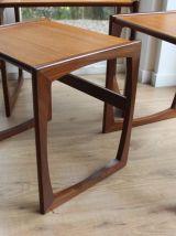 Tables gigognes vintage, style scandinave, en teck pour G-Pl