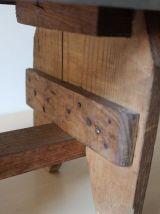 Petit banc vintage en bois et formica