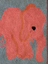 Tapis vintage Américain Hooke fait main, 1C94