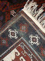 Tapis vintage Afghan Baluch fait main, 1C231
