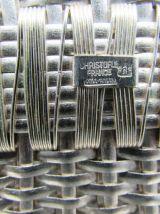 Christofle Gallia porte-bouteille panier métal argenté