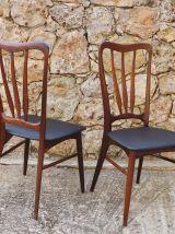 Suite de 6 chaises en palissandre de Rio de Niels Koefoed
