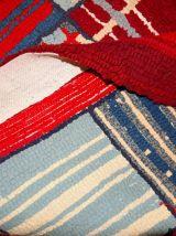 Tapis vintage Américain Hooke fait main, 1B50