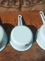 Lot de 4 casseroles émaillées - Années 50