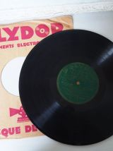 Lot de 4 vinyles 78 tours déco gramophone vintage rétro 1930