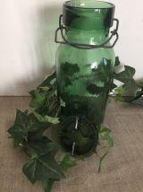 Ancien bocal type Bulach, vert profond, cuisine,, collection